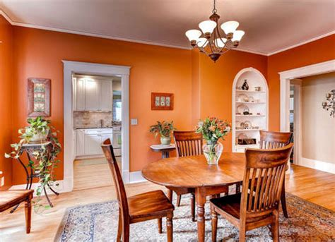 orange dining room table orange color in your dining room why not