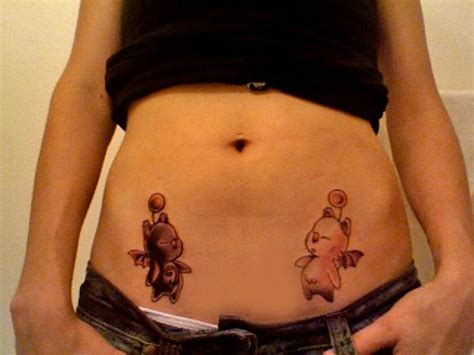 moogle tattoo stomach tattoos page 5
