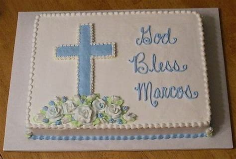 baptism sheet cake  pinterest sheet cakes decorated boy baptism cakes  simple baptism cake