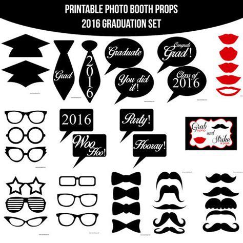 graduation photo booth props printable 2016 instant download graduation graduate grad from