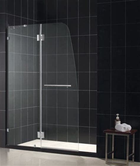 Solid Glass Shower Doors Dreamline Shdr 3345728 01 Aqua Clear Glass Shower Door Chrome 72 Quot Height 45 1 2 Quot Width