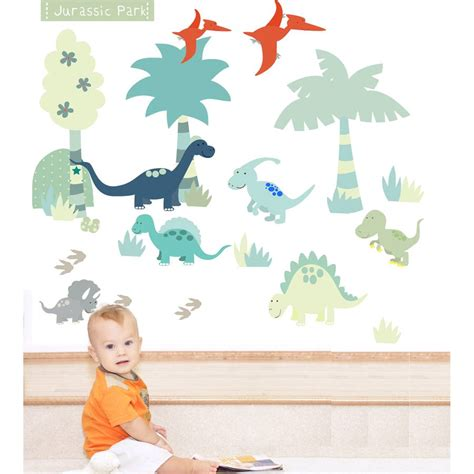 dinosaur wall stickers dinosaur fabric wall stickers by littleprints