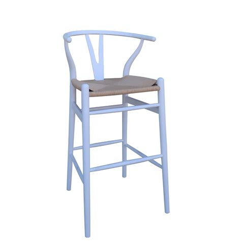 White Wishbone Counter Stool by Bar Stools In Perth Timber Breakfast Kitchen Bar