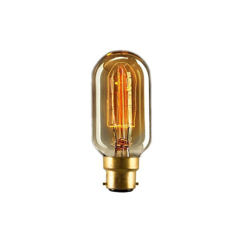 Filament Light Bulb Fixtures T45 Dimmable Small B22 Filament Light Bulb 40w Edison Bulbs