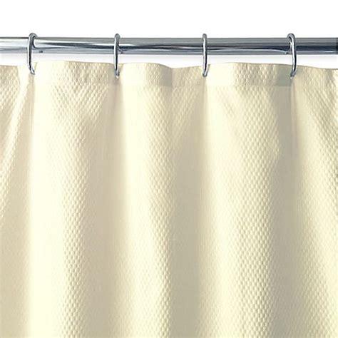 microfiber shower curtain liner buy ella microfiber shower curtain liner in ivory from bed
