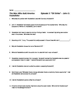 The Who Built America Worksheet by The Who Built America Worksheet