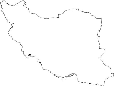 Iran Map Outline by Tourist Diary Salimeh