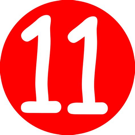red rounded with number 11 clip art at clker com vector
