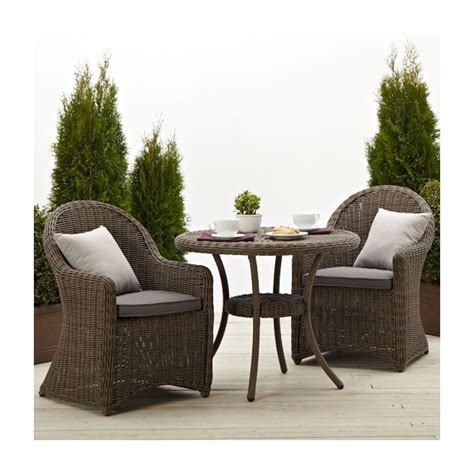wicker patio chairs strathwood hayden all weather wicker bistro