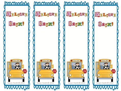printable school bookmarks 3rd grade grapevine free welcome back to school bookmarks
