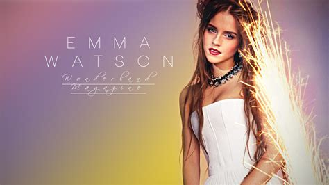 emma watson modeling actress emma watson model woman wonderland magazine