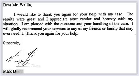 Thank You Letter Lawyer thank you note www pixshark images galleries