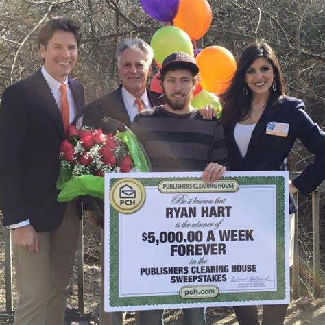 Pch 5000 A Week For Life 2017 Winner - meet ryan hart publishers clearing house s new