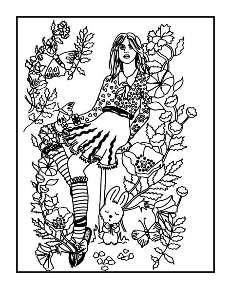 secret garden coloring book color pages your secret garden coloring book page by fractalbee on