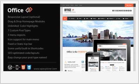 wordpress themes free office 20 unique business wordpress themes wp template