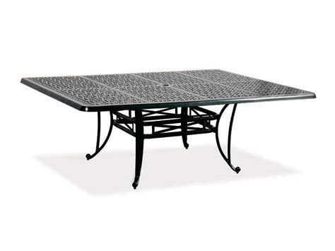 60 Patio Table Cast Classics Opus Cast Aluminum 84 X 60 Rectangular Dining Table With Umbrella 1968460