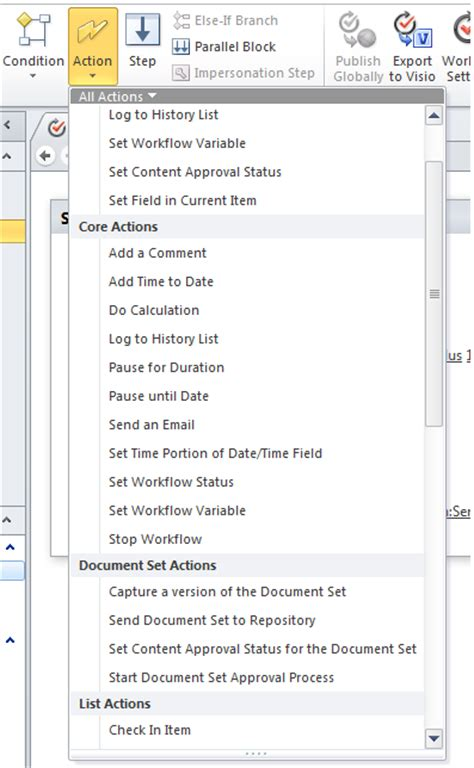 workflow history list sharepoint 2010 create a workflow activity using visual