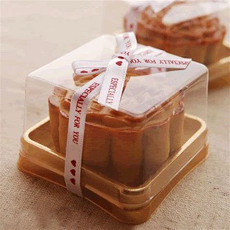 Box Kotak Karton Packing Food Grade kotak kue plastik tunggal individu kotak kue bottom emas mooncake plastik kotak pvc hadiah