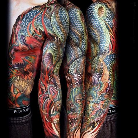 dragon tattoo sleeves designs 100 sleeve designs for breathing