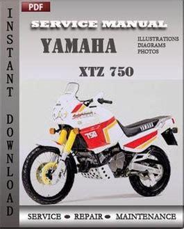 Yamaha Xtz 750 Free Download Pdf Repair Service Manual Pdf