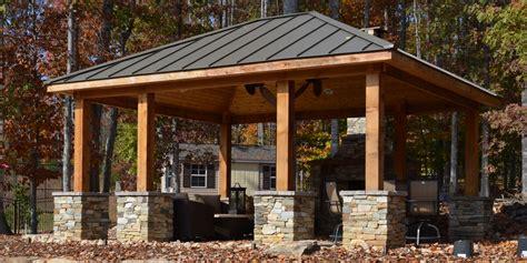 pergola pavillon outdoor kitchen pavilion western cedar pavilion