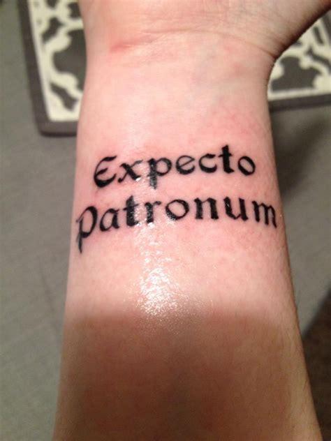 expecto patronum tattoo my new harry potter quot expecto patronum quot on my wand