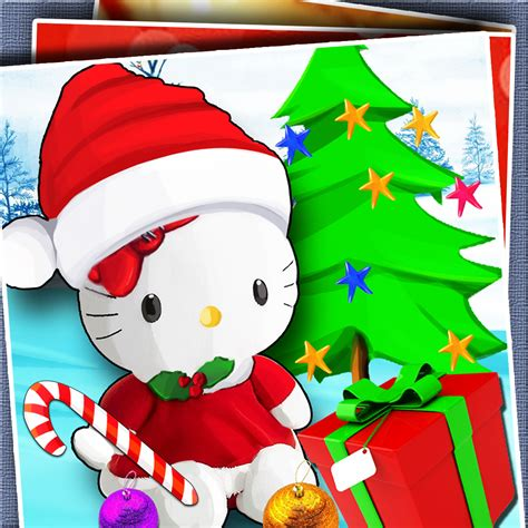 kitty merry christmas wallpaper wallpapersafari