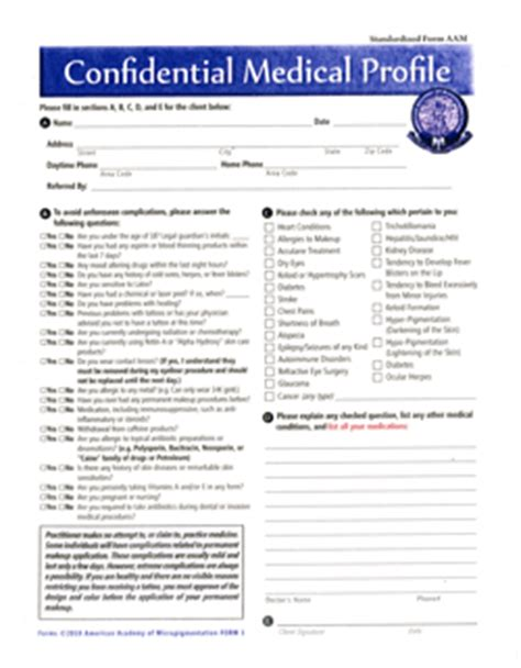 tattoo medical history form permanent makeup consent form fay blog