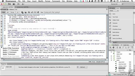 tutorial in dreamweaver cs6 dreamweaver cs6 tutorial the code view toolbar
