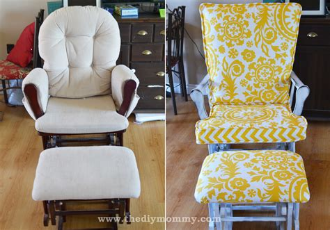 chair repair upholstery makeover update a nursery glider rocking chair the diy mommy