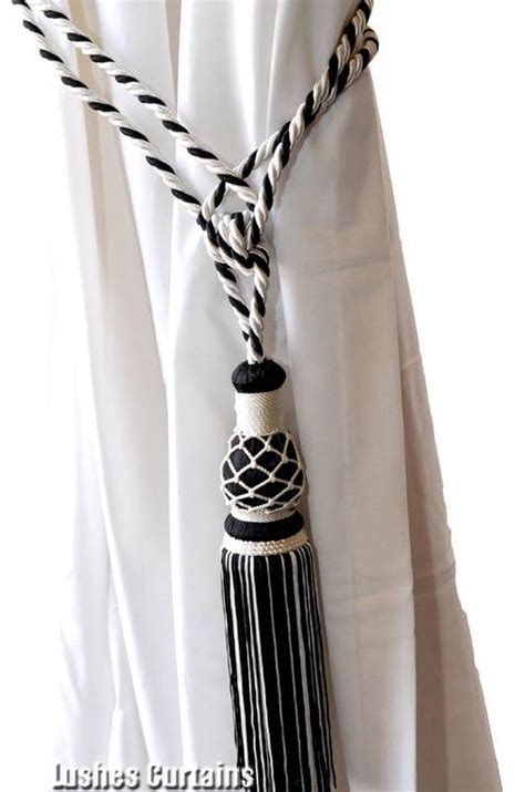 curtain cords 1 black white window drape hardware curtain drapery