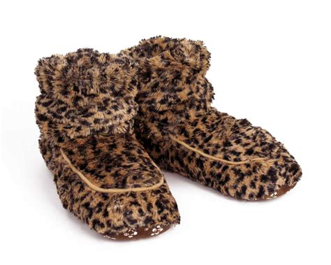 leopard slipper socks cozy leopard slippers boots microwavable slippers