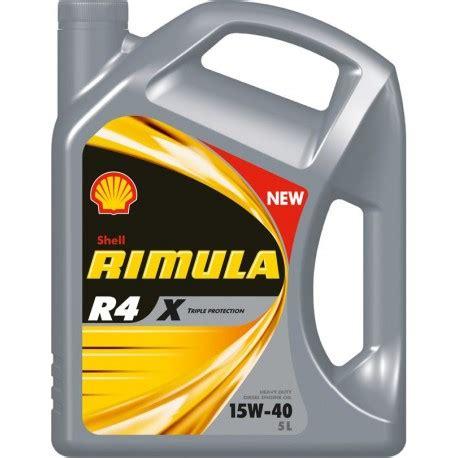 Shell Rimula R4 X Sae 15w 40 Liter huile moteur shell rimula r4 x 15w40 lubweb