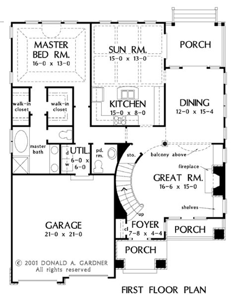 2 story great room floor plans house plan the wicklow by donald a gardner architects