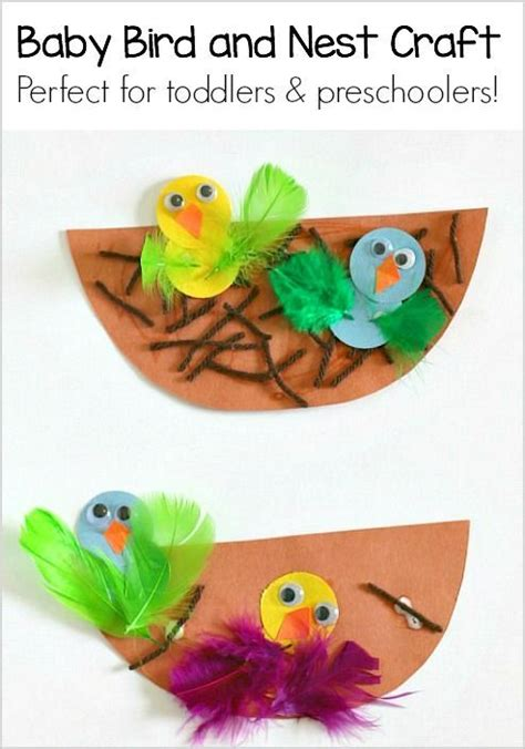 pattern art for preschoolers spring crafts for kids nest and baby bird craft spring