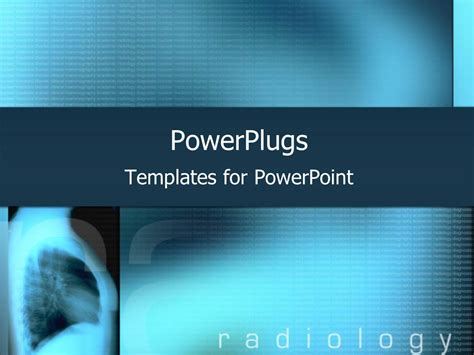 templates powerpoint powerplugs powerpoint template blue x ray with radiology text on a
