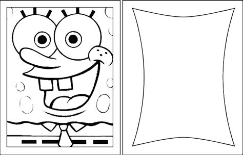 birthday coloring card template birthday cards blank spongebob coloring pages 432930
