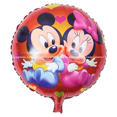 Balloonable Balon Foil Mickey Minnie Mouse 10pcs lot large standing mickey minnie mouse foil balloons birthday gifts festival