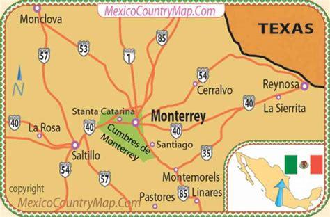 map of monterrey mexico map of mexico monterrey map travel