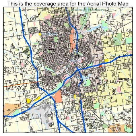 where is flint on map aerial photography map of flint mi michigan