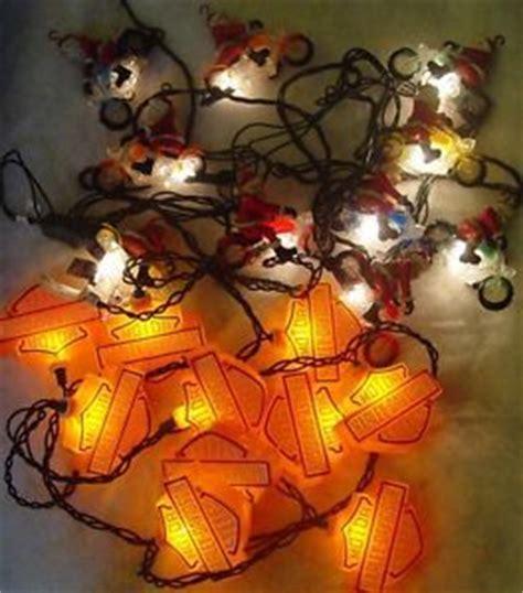 2 sets of harley davidson biker santa christmas tree lights