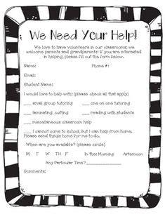 parent communication freebie set kindergartenklubcom