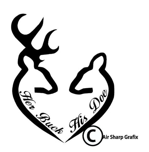 buck and doe tattoo buck and his doe vinyl decals by airsharpgrafix on
