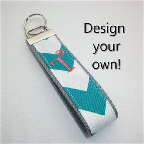 Design Your Own Wristlets At Tmstudiodesigns by Shop Monogrammed Keychain Wristlet On Wanelo