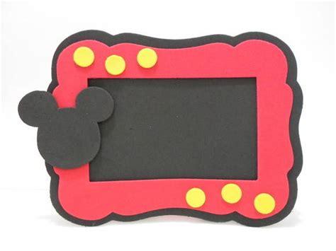 como hacer un porta retrato de minnie mouse portaretrato de mickey en goma eva imagui