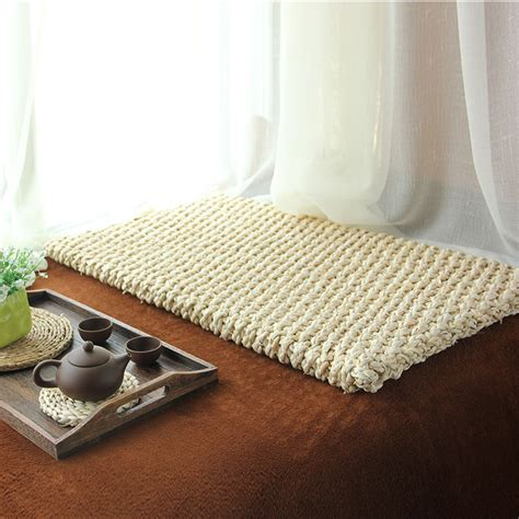 futon floor cushion modern rustic rectangular floor cushion beige natural
