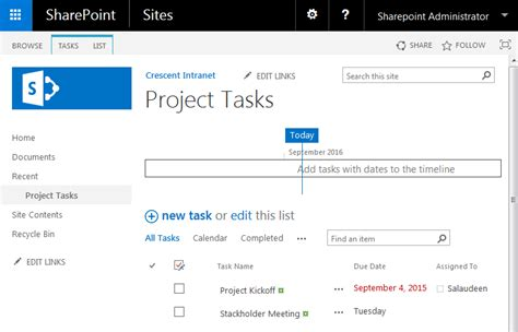 sharepoint task list template how to hide the timeline in the task list of sharepoint