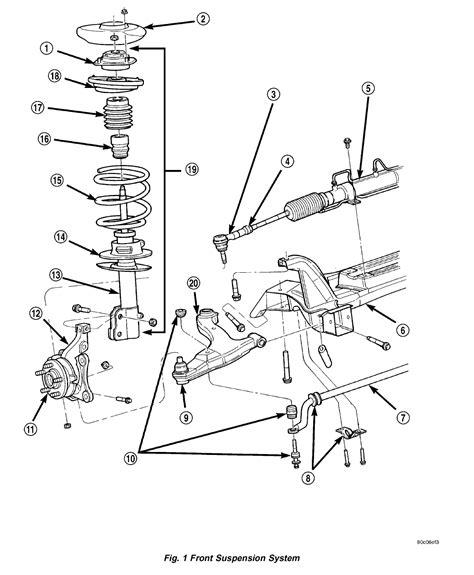 pt cruiser rear suspension diagram pt cruiser suspension parts diagram