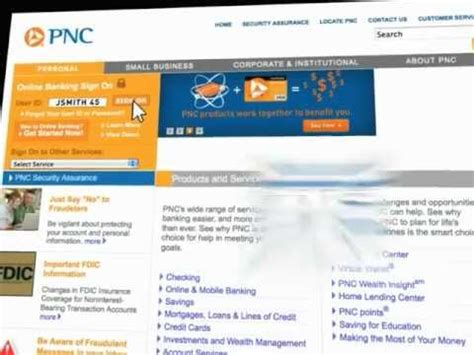 pnc bank personal banking pnc online banking