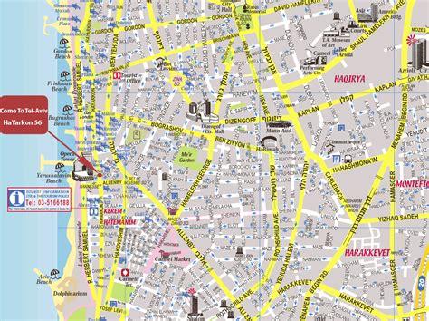 tel aviv map map of tel aviv israel